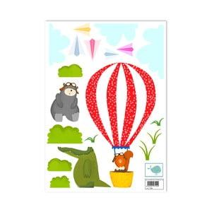 Samolepka na stenu Balloon Ride, 29,7x42 cm