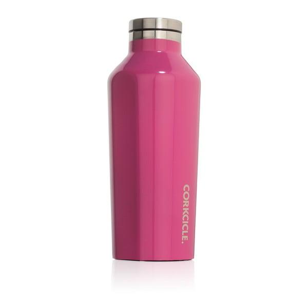 Ružová cestovná termofľaša Corkcicle Canteen,260ml
