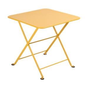 Žltý detský skladací kovový stôl Fermob Tom Pouce