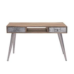 Konzolový stolík z mangového dreva s 2 zásuvkami Canett Leipzig