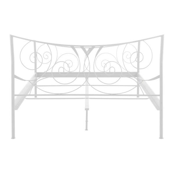 Biela dvojlôžková kovová posteľ Støraa Isabelle, 140 x 200 cm