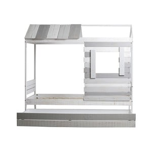 Sivo-biela posteľ Marckeric Sia, 90 × 190 cm