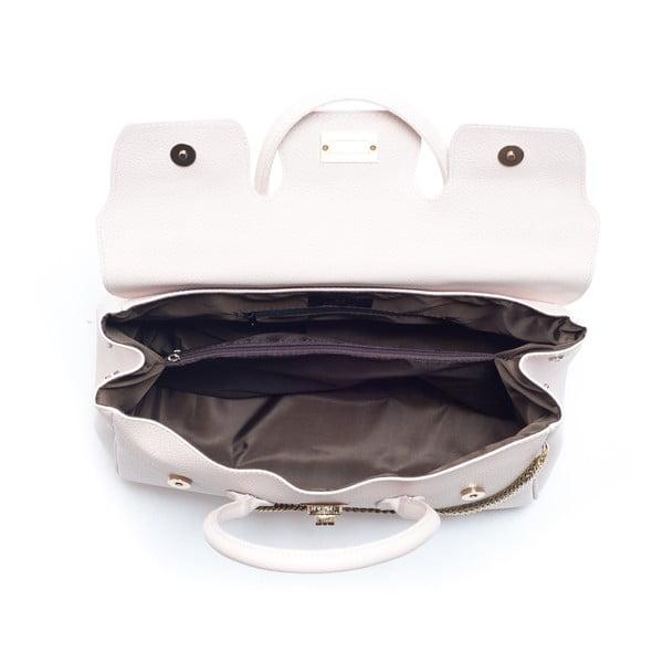 Kožená kabelka Mangotti 1049, béžová