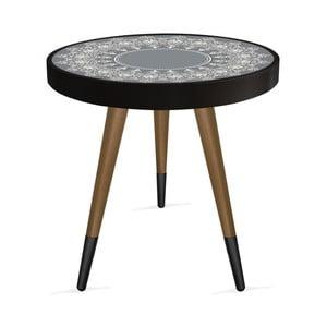Príručný stolík Rassino Oriental Grey Circle, ⌀ 45 cm