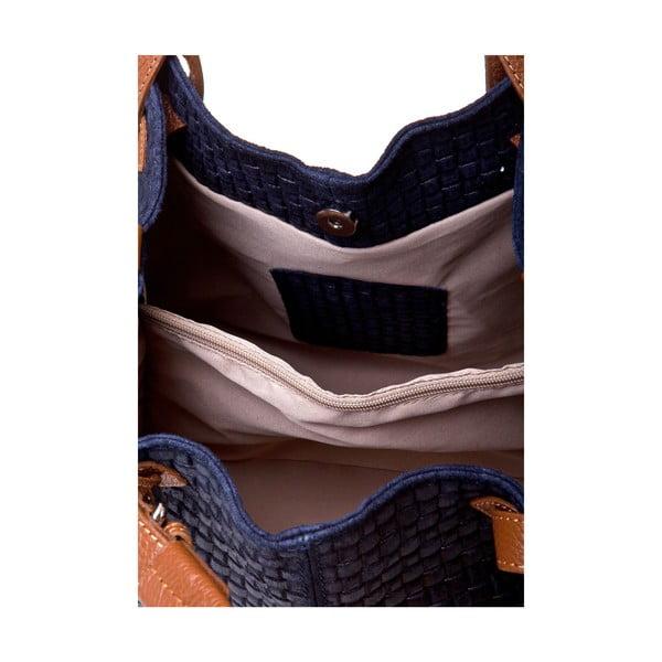 Kožená kabelka Italia 858 Blu