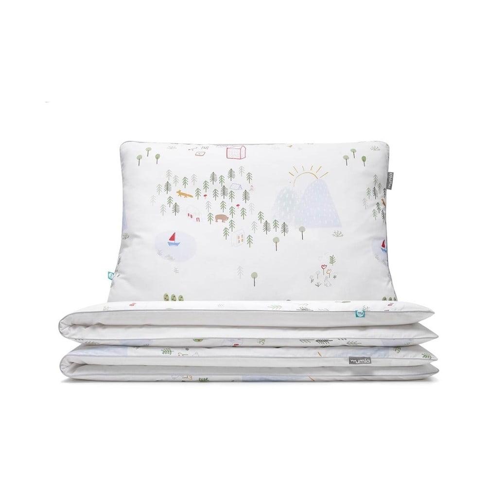 Detské bavlnené posteľné obliečky Mumla Maps, 90 × 120 cm