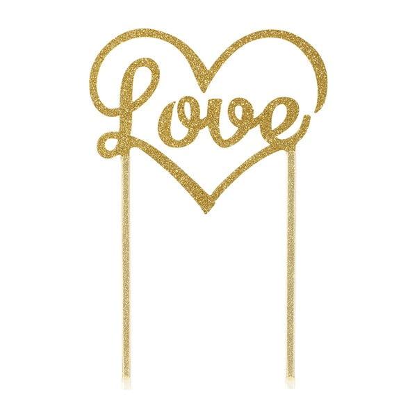 Dekorácie na tortu Love Gold