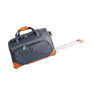 Sivá cestovná taška na kolieskách GENTLEMAN FARMER Sporty, 88 l