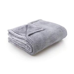 Sivá deka z mikrovlákna DecoKing Steel, 170 x 210 cm
