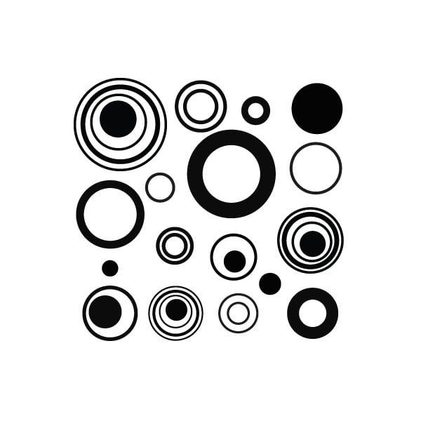 Samolepka Grey Circles