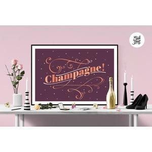 Plagát Champagne! Burgundy, A3
