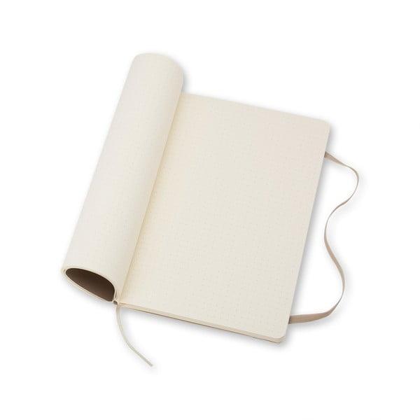 Veľký béžový zápisník Moleskine Soft, bezlinajok