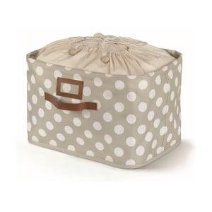 Béžový úložný box s viazaním Cosatto Jolie, 25×40cm