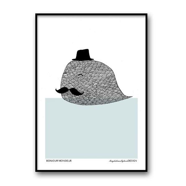 Autorský plagát Bonjour Monsieur, 30x40 cm