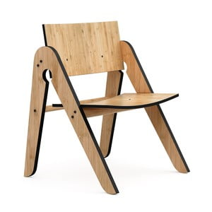 Detská stolička z bambusu Moso s čiernymi detailmi We Do Wood Lilly 's