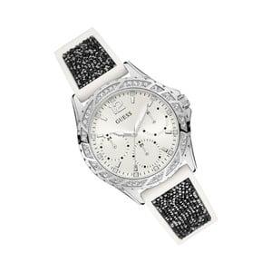 Dámske hodinky s čiernym silikónovým remienkom Guess W1096L1