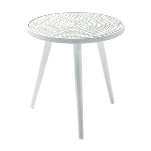 Biely odkladací stolík Kare Design Teatime