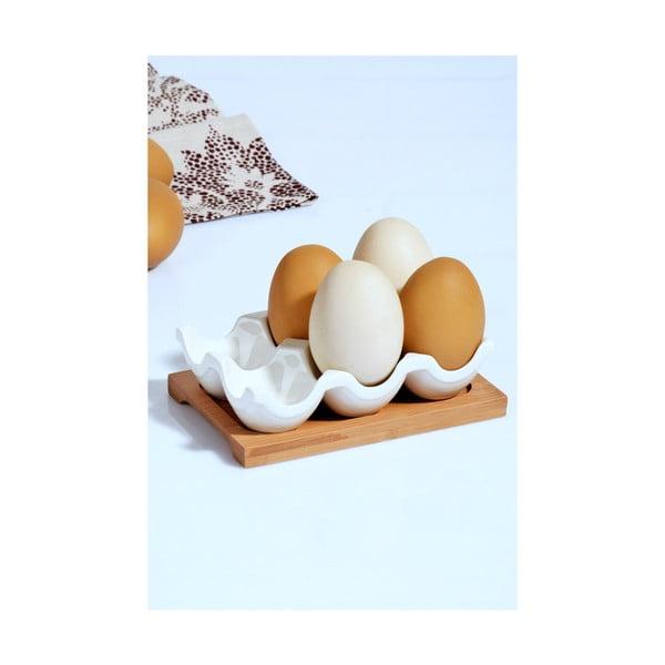 Porcelánový stojan na vajíčka Kosova, 10,5 × 15 × 4 cm