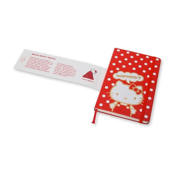 Veľký zápisník Moleskine Hello Kitty, bezlinajok