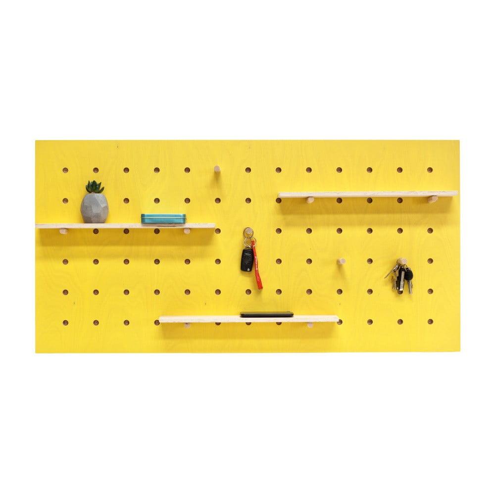 Žltý nástenný organizér Ragaba TRIVENTI, 120 × 60 cm