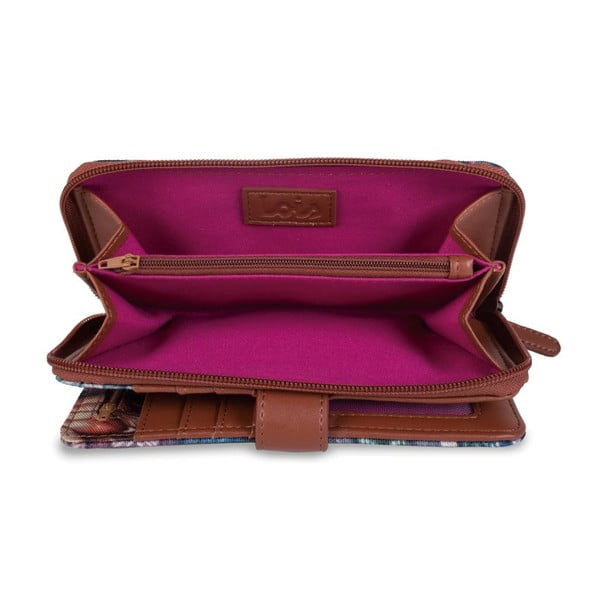 Peňaženka Lois Peacock, 18x9 cm