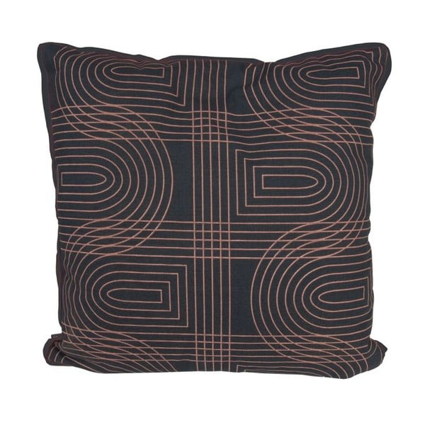 Vankúš Retro Grid Black, 45x45 cm