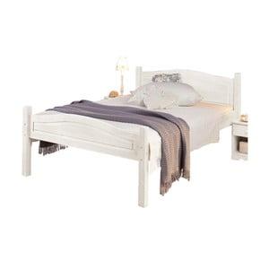 Biela posteľ z masívneho borovicového dreva Støraa Barney, 90 x 200 cm