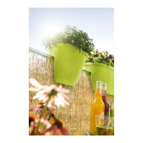 Kvetináč na zábradlie City Green, 30x30x26 cm
