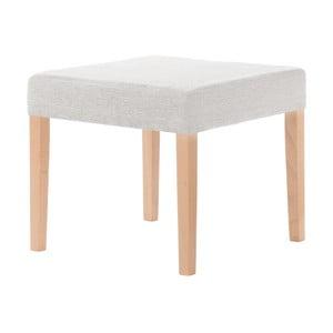 Krémová stolička s hnedými nohami Ted Lapidus Maison Pétale