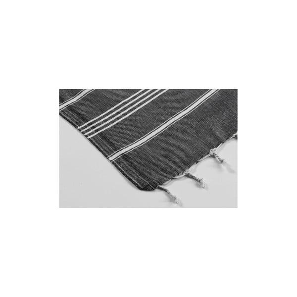 Hamam osuška Sabba Black, 100x180 cm