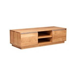 Televízny stolík z dubového dreva Fornestas Hamilton, šířka 120 cm