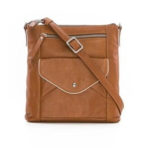 Hnedá kožená kabelka Gianni Conti Rena
