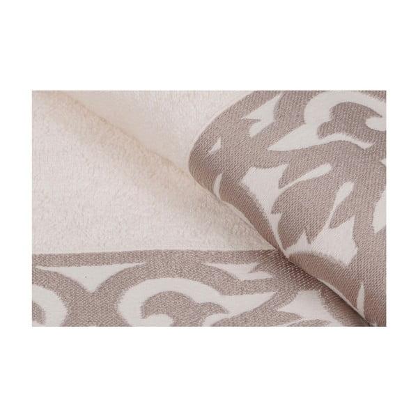 Sada 2 bielych uterákov na ruky s hnedým lemovaním Grace