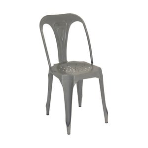 Kovová stolička Grey Metal