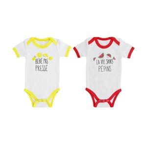 Sada 2 bavlnených body pre bábätko Le Studio
