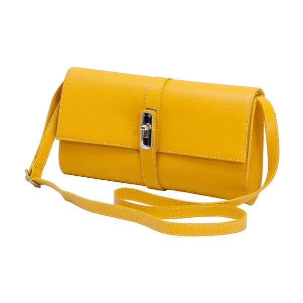 Žltá kožená kabelka Andrea Cardone 1040