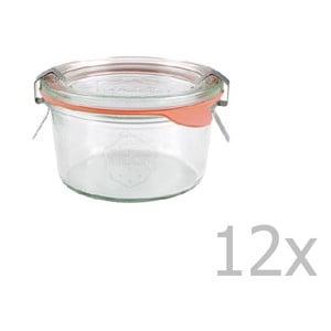Sada 12 zaváracích pohárov Weck Sturz, 165 ml