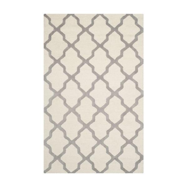 Vlnený koberec Ava White Orange, 152x243 cm