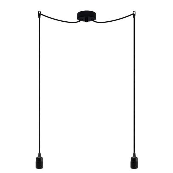 Dvojitý závesný kábel Uno, čierna/čierna/čierna