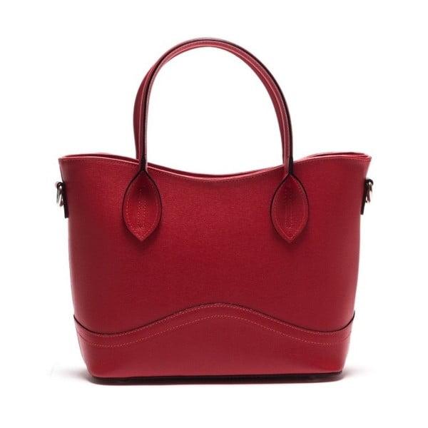 Kožená kabelka Anna Luchini 435L Rosso