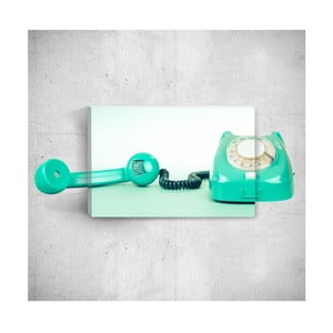 Nástenný 3D obraz Mosticx Turquoise Telephone, 40×60 cm
