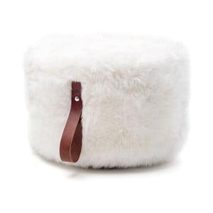 Bielo-hnedý okrúhly puf Royal Dream
