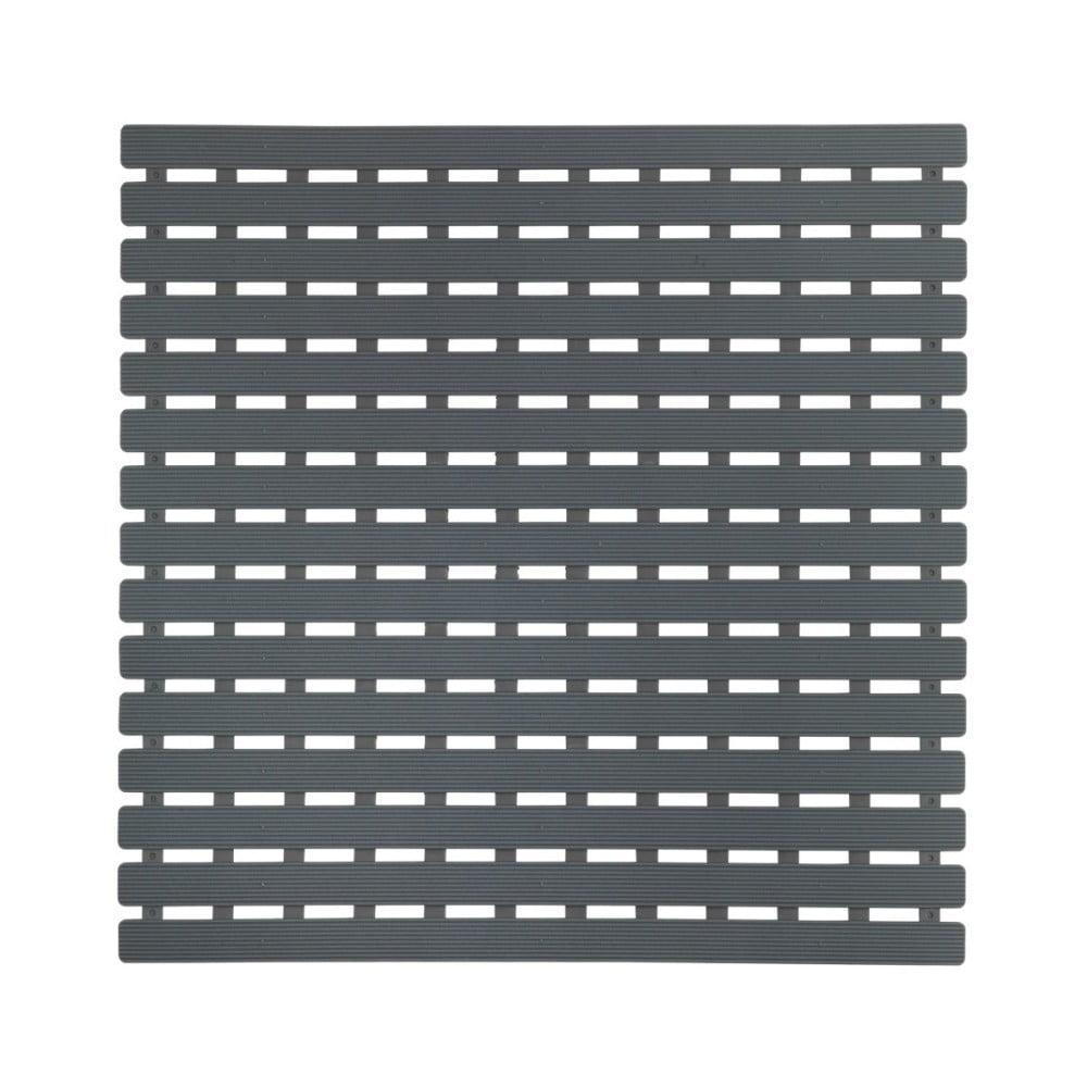Tmavosivá podložka do sprchového koutu Wenko Arinos, 54 × 54 cm