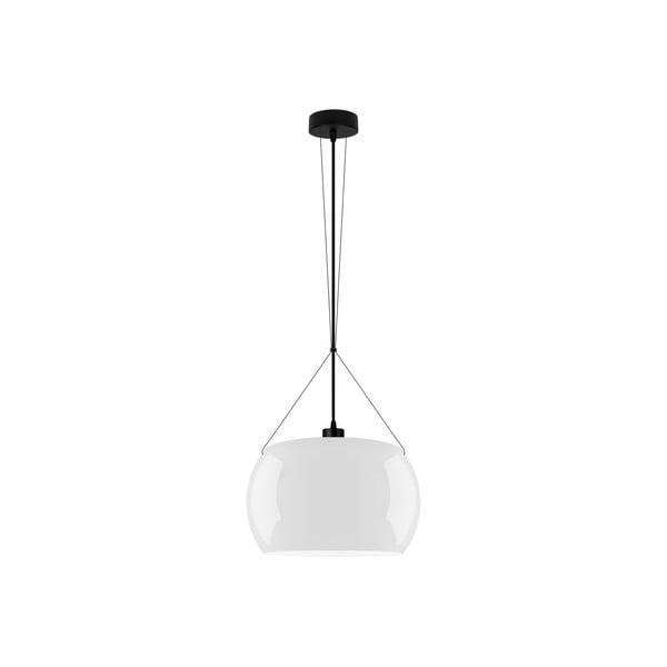 Čierno-biele lesklé závesné svetlo Sotto Luce MOMO Elementary 1S