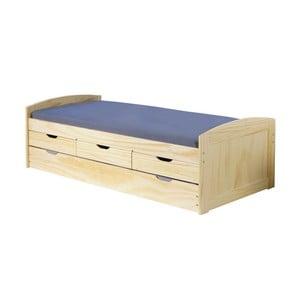 Drevená jednolôžková posteľ s úložným priestorom 13Casa Moon, 90 x 200 cm