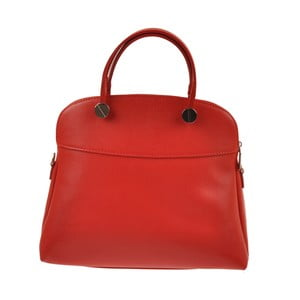 Kožená kabelka Emilio Masi Yutz, červená