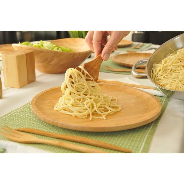 Bambusová naberačka na špagety Bambum