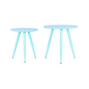Sada 2 modrých príručných stolíkov Design Twist Kiko
