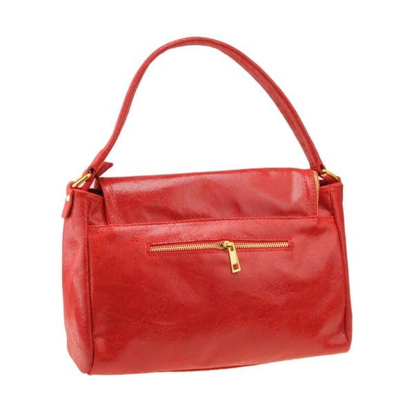 Kožená kabelka Diadema, červená
