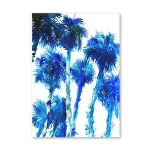 Plagát Trees Blue